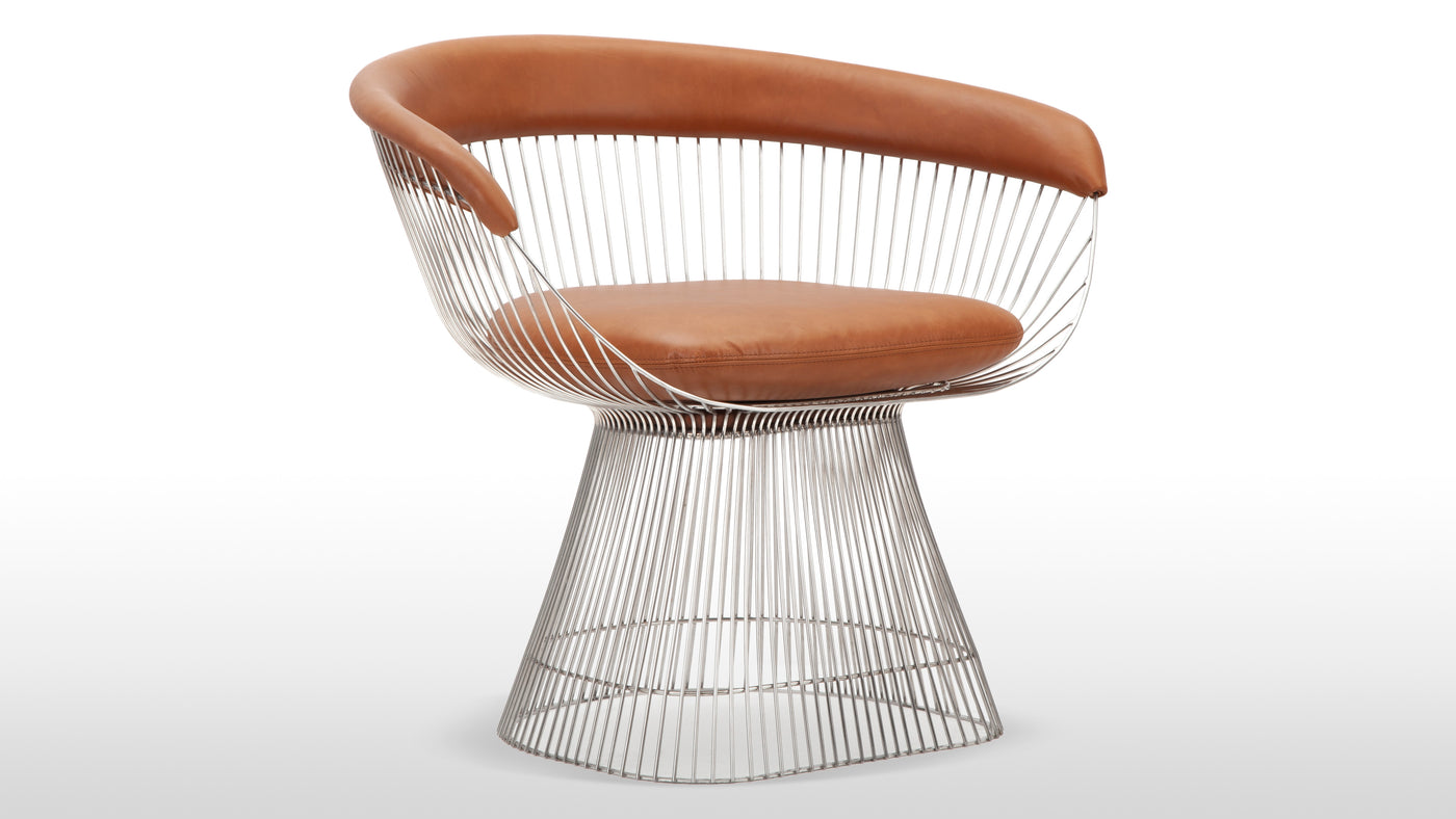 A timeless collection|As an integral piece in the designer's signature Platner Collection, this versatile chair is ideal for the modernist home or style-conscious office. Combining high-quality materials to produce modern masterpieces, Platner's eye for design was apparent in everything he created.