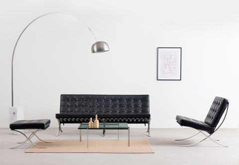 Arco Lamp - Arco Floor Lamp, Marble and Stainless Steel