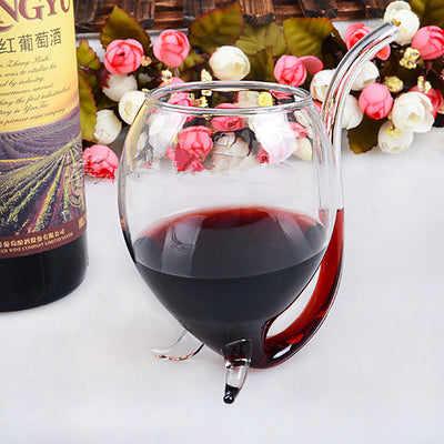 Vampire Red Wine Tube Glass For A Special Valentine's Night