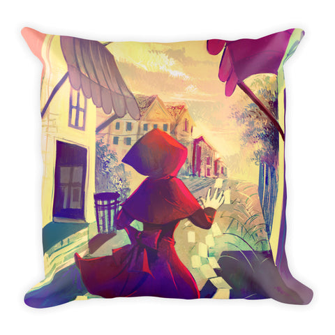 Waiting for the end Square Pillow