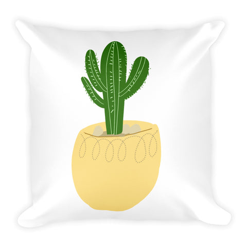 'Cactus 1' Square Pillow