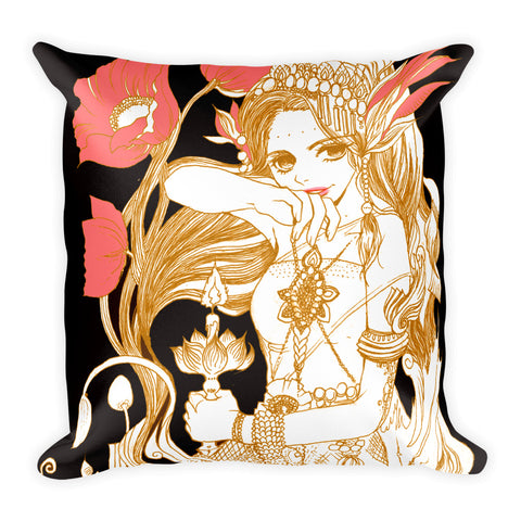 Westal no.8 'the big day' Square Pillow