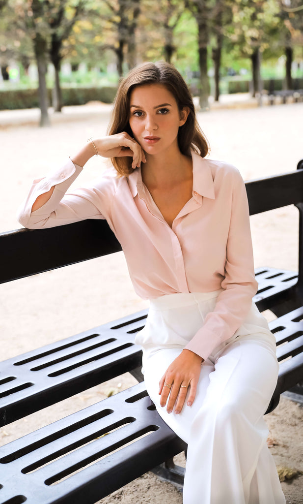 Florence Silk Blouse - Rosa Pink