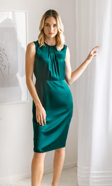 Rochelle Silk Midi Dress