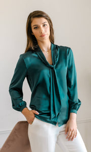 Vinci Silk Bow Blouse
