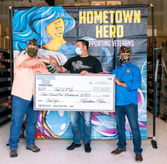Hometown Hero Donates $25,000 to Veterans Charities