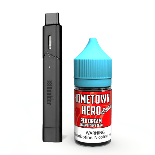 Red Dream Salted eJuice with Boulder Rock Pod System Vape