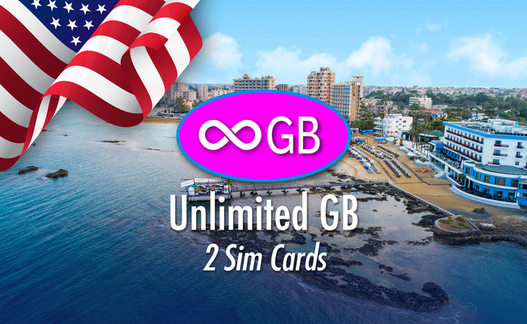 Unlimited GB - 2 Sim Cards - USA