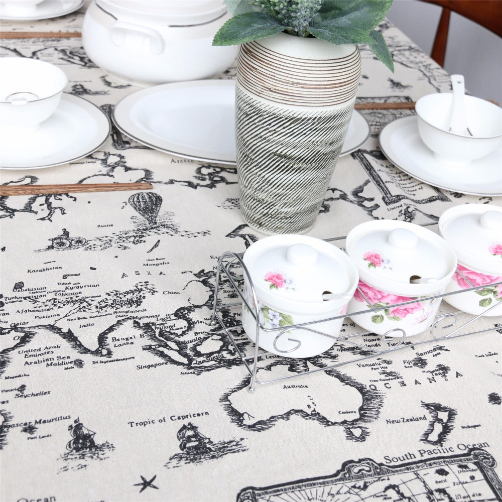 World map tablecloth blue mart store world map tablecloth world map tablecloth gumiabroncs Image collections