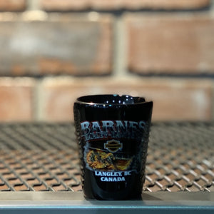 Harley-Davidson® Custom Shot Glass. Black Short Single shot glass.