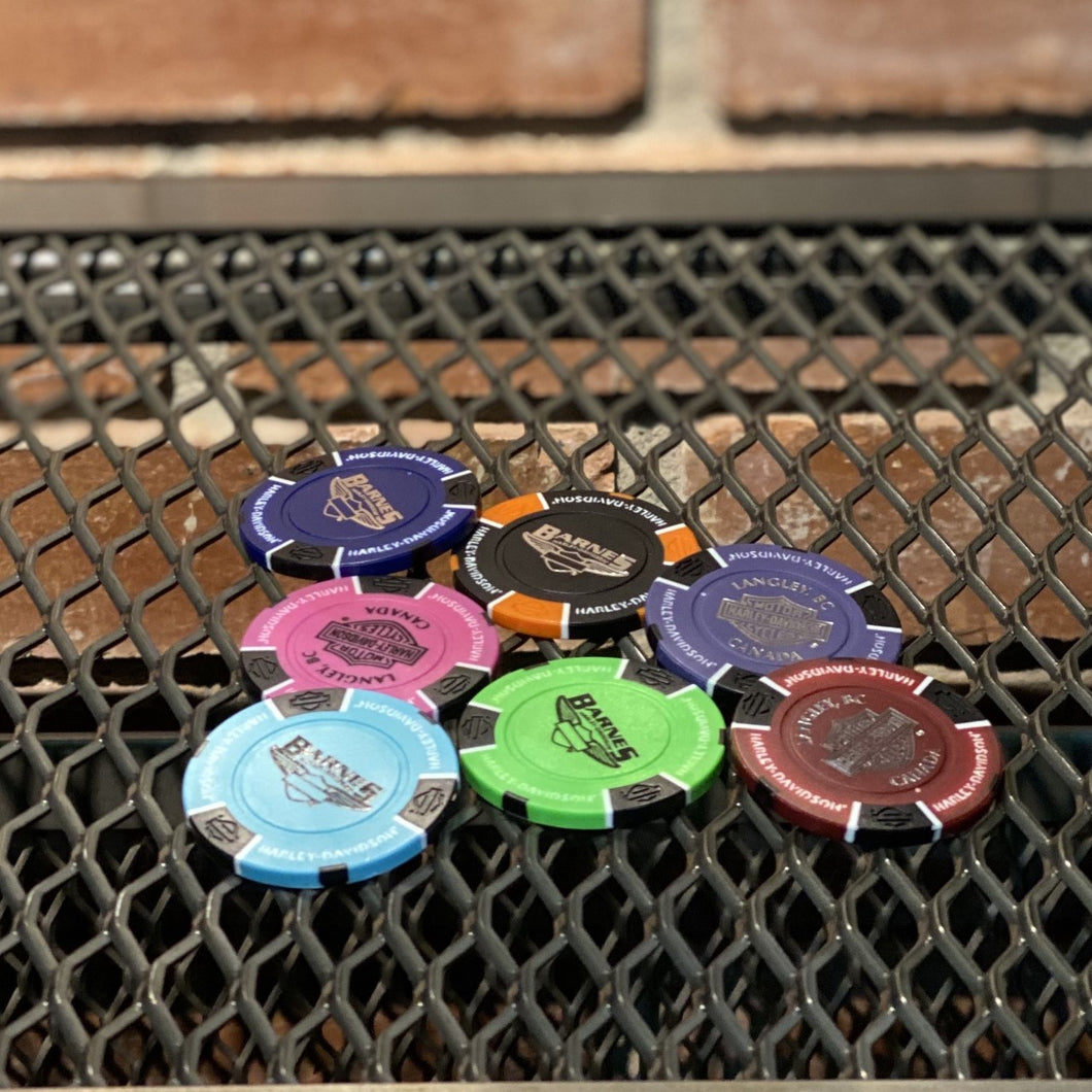 Barnes Harley-Davidson Collectible Poker Chips!