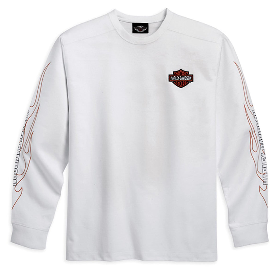 L/S Tee with Flame Graphics