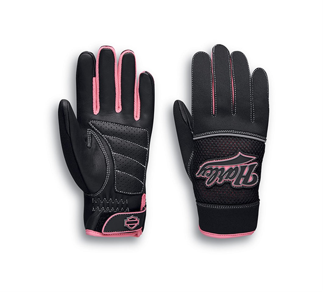 Pink Label Mixed Media Gloves