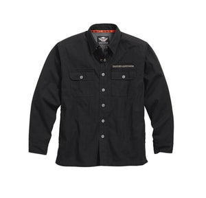 Pinstripe Flames Shirt Jacket