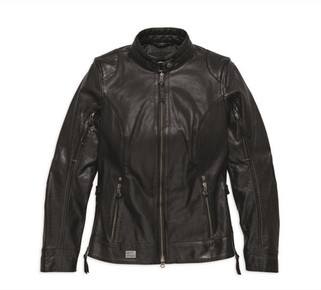 Line Stitcher Leather Jacket