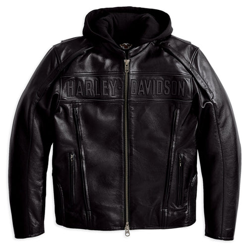 Reflective Road Warrior 3-in-1 Leather Jacket