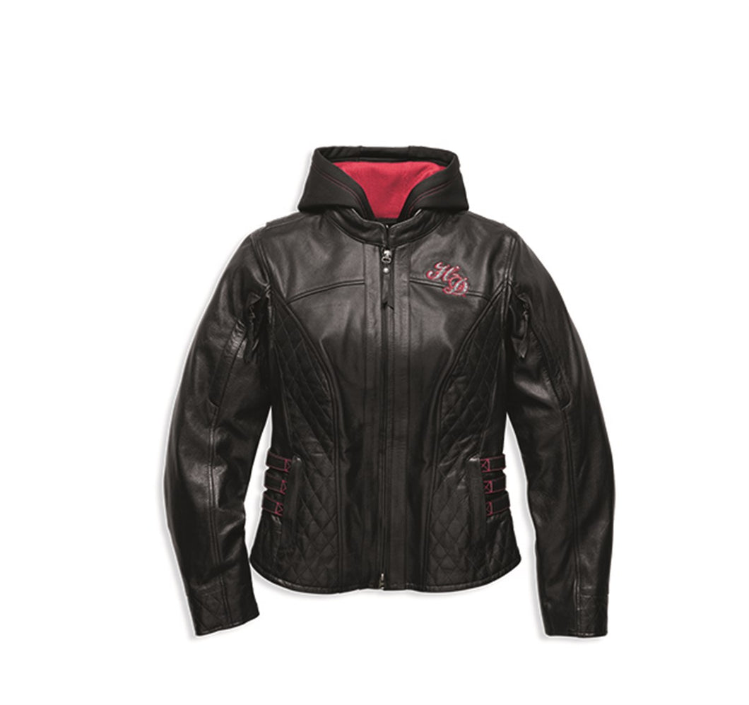 Scroll Skull 3-in-1 Leather Jacket