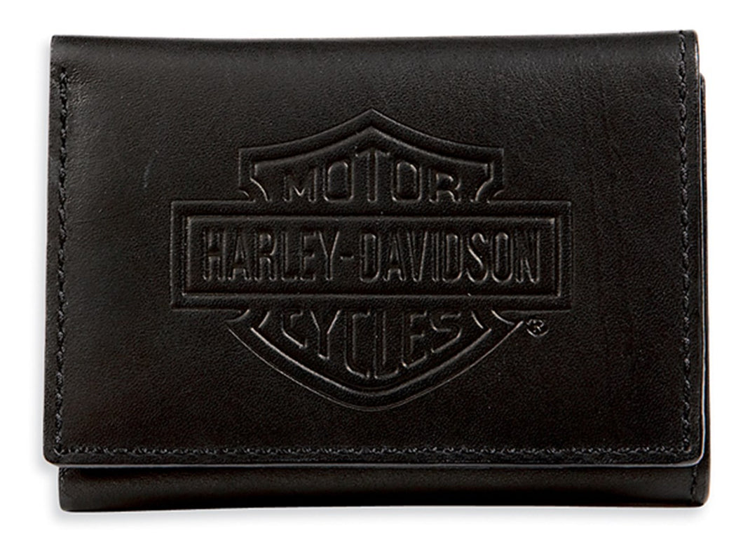 Bar & Shield Logo Tri-Fold Short Wallet