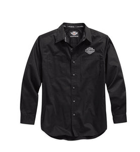 Long Sleeve Logo Woven Shirt