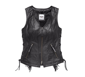 Boone Fringed Leather Vest