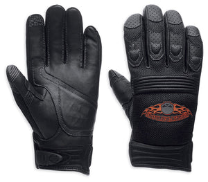 Burning Skull Full-Finger Gloves with Touchscreen Technology