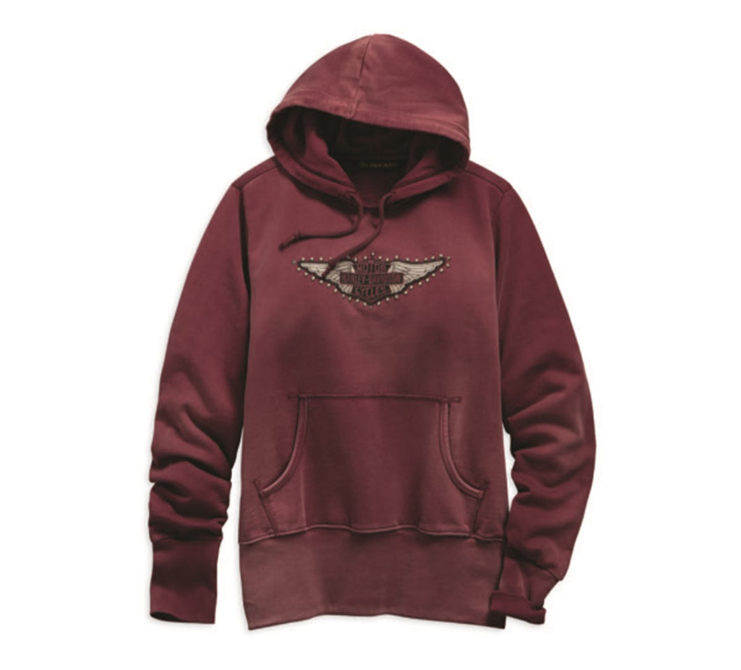 Studded Wing Pullover Hoodie