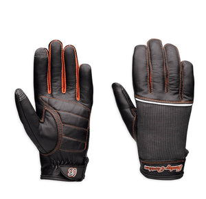 Cora Leather & Mesh Full-Finger Gloves with Touchscreen Technology