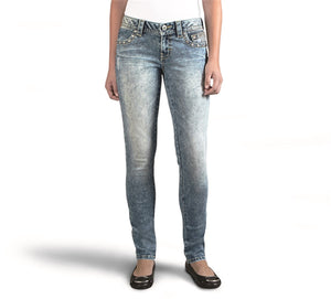 Skinny Embellished Low-Rise Jean