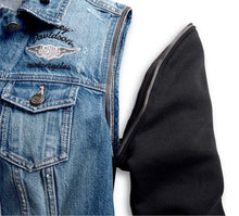 Zip-Off Sleeve Denim Jacket
