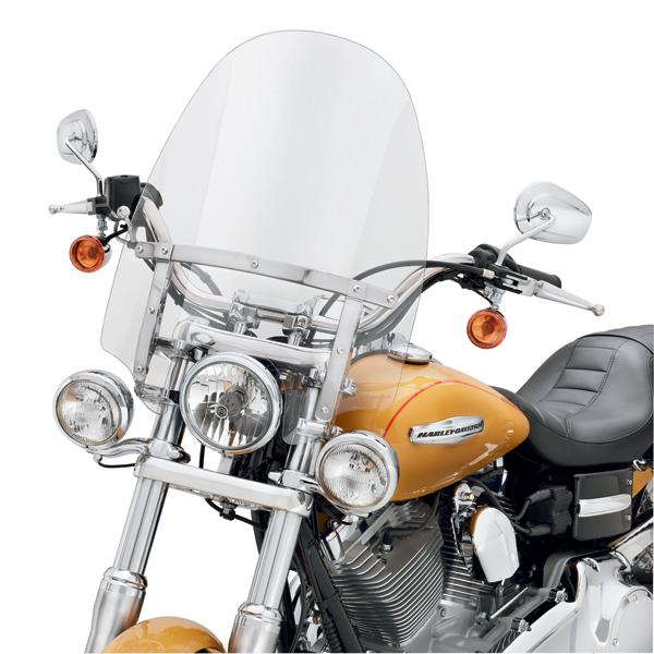 H-D® detachables™ Compact Windshield for Models with Auxiliary Lighting (57609-08)