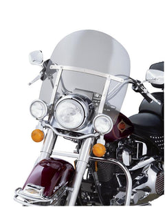 King-Size H-D Detachables Windshield for Nacelle-Equipped Models with Auxiliary Lighting (58649-97A)