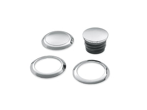 Flush-Mount Fuel Cap and Left Side Tank Cap kit - Chrome (61100131)