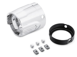 "Defiance Collection Muffler End Caps - 4.5"" - Chrome (65100162)"