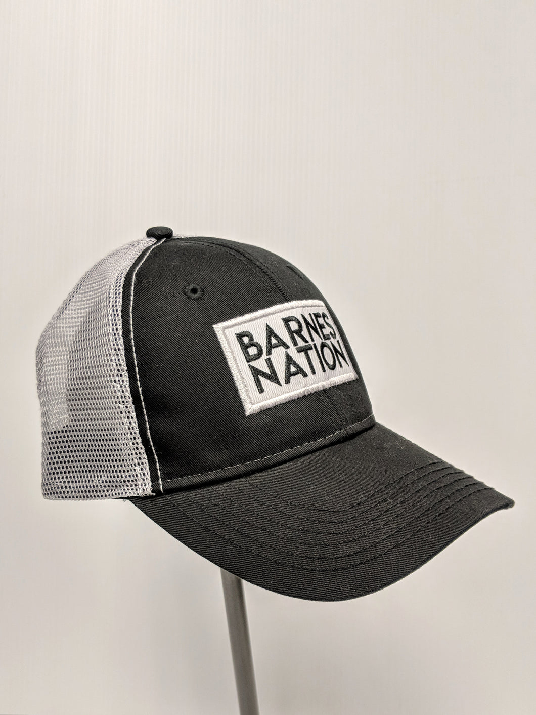 Box Logo Barnes Harley Davidson Motorcycle Trucker Hat in Vancouver Burnaby Richmond Coquitlam Surrey Langley Motorcycle Riding Gear Apparel Lifestyle