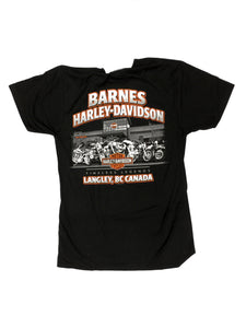 Box Logo Barnes Harley Davidson Motorcycle Trucker Hat in Vancouver Burnaby Richmond Coquitlam Surrey Lower Mainland Fraser Valley Van Langley Motorcycle Riding Gear Apparel Lifestyle Tees Bar and Shield Harley Davidson Barnes
