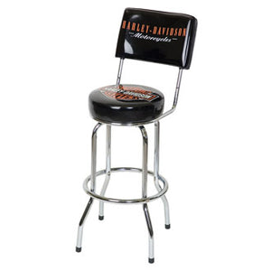 H-D B&S BAR STOOL W/BACKREST