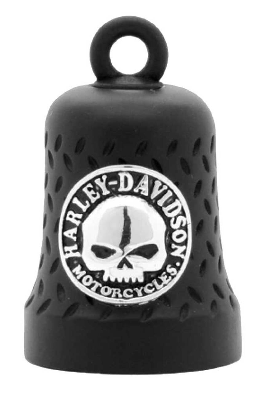 Harley-Davidson® Willie G Skull Diamond Plated Ride Bell, Matte Black HRB079