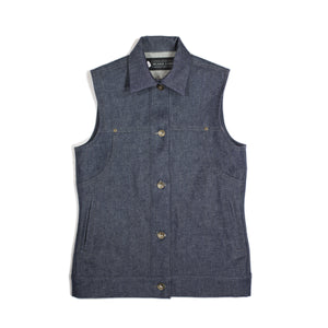 Jenny Lane Splitter Women's Denim Vest