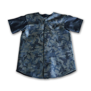 Buffalo Soldier Leather Baseball Jersey