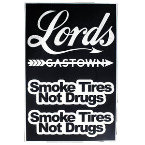 Smoke Tires Decal Pack - Black or White