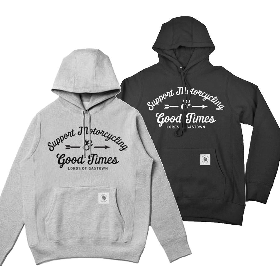 Support Motorcycling Heavyweight Hoodie