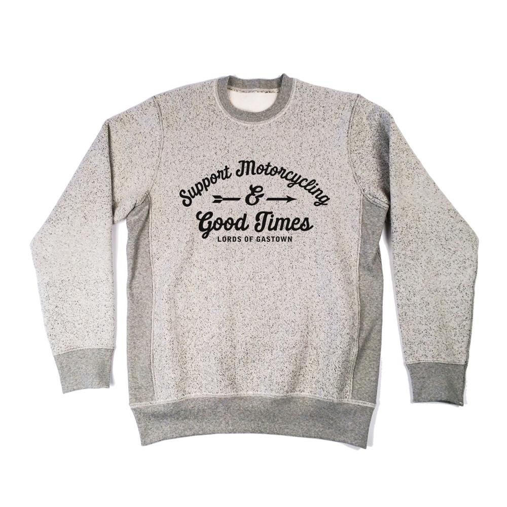 Support Motorcycling Heavyweight Crewneck