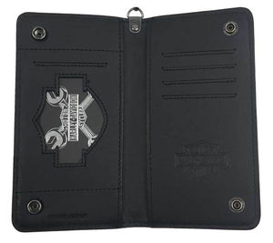 Harley-Davidson® Men's Shot Caller Embossed Biker Leather Wallet HDMWA11048-BLK