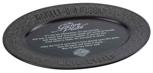 Harley-Davidson® Custom Ceramic Tire Tread Pattern Giving Plate, Black HDX-99111