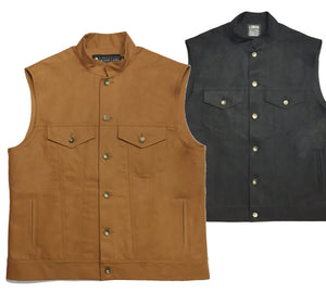 Unlined Baja Cut Canvas Vest