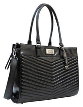 Harley-Davidson® Women's Quilted Chevron Carryall Purse, Black CQ5502S-BLACK