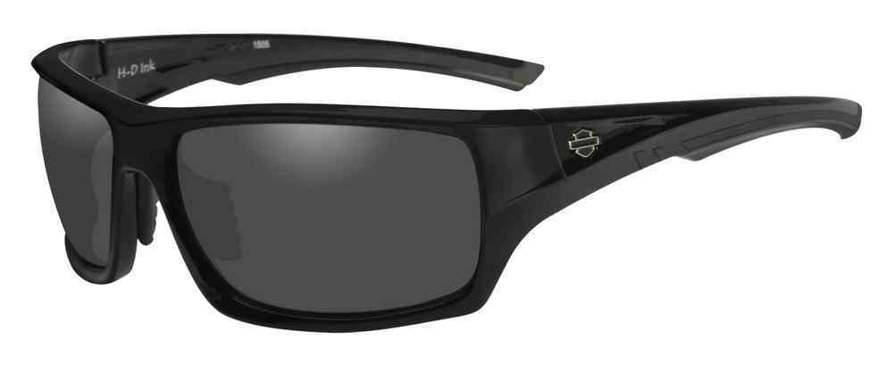 Harley-Davidson® Men's Ink Bar & Shield Sunglasses, Gray Lens/Black Frame HAINK01