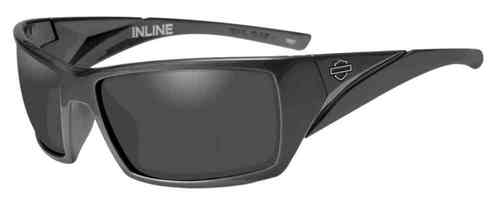 Harley-Davidson® Men's Inline Bar & Shield Sunglasses, Gray Lens & Frames HAINL01