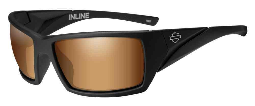 Harley-Davidson® Mens Inline Bar & Shield Sunglasses, Bronze Flash Lenses HAINL06