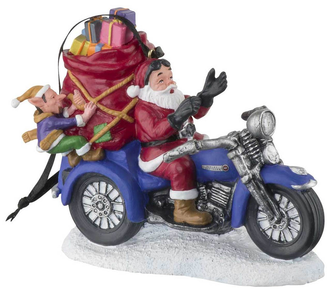 Harley-Davidson® Custom Sculpted Biker Santa Polyresin Ornament HDX-99164